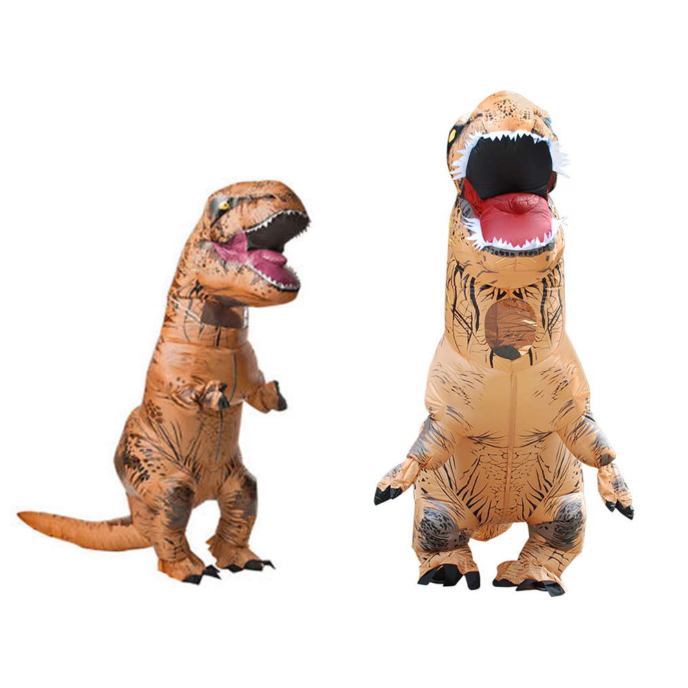 Kid Adult Tyrannosaurus Dinosaur Inflatable Clothing Christmas Halloween Party Decoration COSPLAY Inflatable Outdoor Funny Toys стоимость
