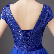dresses for women free shipping lady dresses fashion sequined clothes tulle A-Line Prom Dresses redblueburgundy dresses women