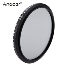 Andoer 82mm Filter ND Fader Neutral Density Adjustable ND2 to ND400 Variable Filter for Canon Nikon DSLR Camera(China)