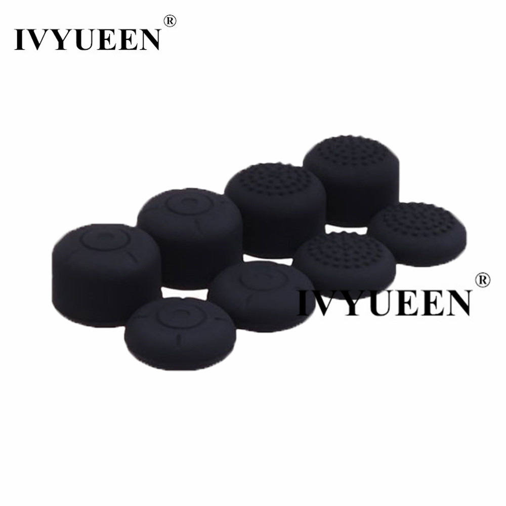 IVYUEEN 8 Pcs Silicone Analog Thumb Stick Grips For Nintend Switch NS Joy-Con Thumbsticks Caps For JoyCons Joystick Cover