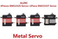ALZRC 3 шт DM1232S + 1 шт DM1531T Средний Цифровой Металлический сервопривод Fit 450 465 380 420 вертолет
