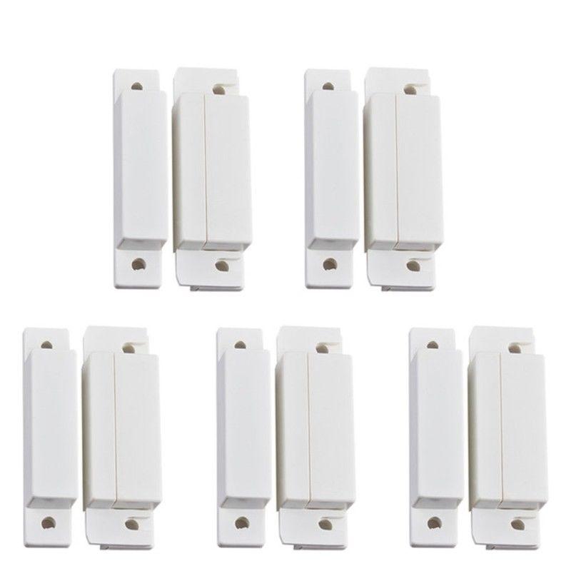 5PCS 31 Wired Door Window Sensor Detector Magnetic Switch For Burglar Alarm System Kit thyssen parts leveling sensor yg 39g1k door zone switch leveling photoelectric sensors