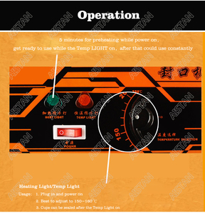 Image 5 - WY802F manuel bardak yapıştırma makinesi plastik veya kağıt kabarcık çay bardağı mühürleyen 220V 110V