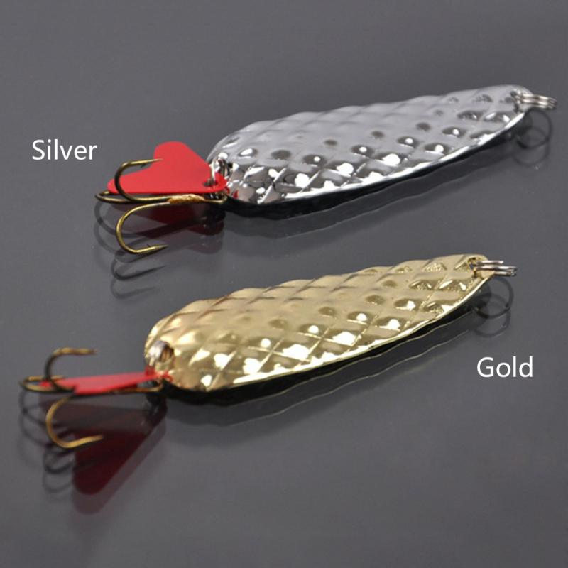 3PCS 8g New Sequins Metal Spinner Spoon Fishing Lure Hard Baits Noise Paillette Artificial Bait with Treble Hook