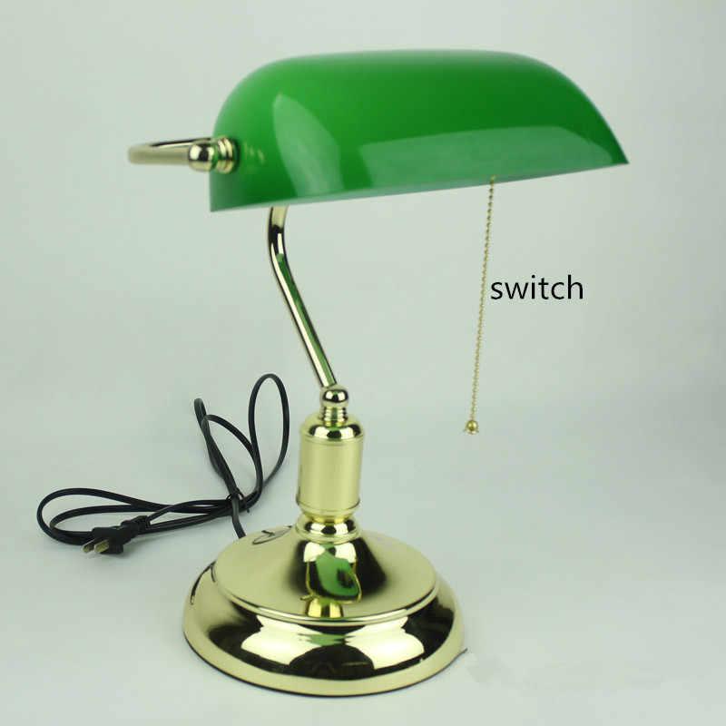 Bankers Desk Lamp Vintage Table