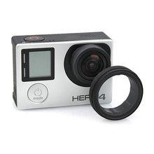 Anti-exposed lens frame Protective Lens Cover HR253 for GOPRO HERO 3+/4(black)