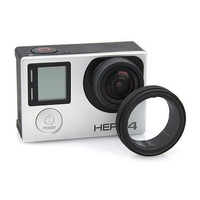Anti-exposed lens frame Protective Lens Cover HR253 for GOPRO HERO 3+/4(black)