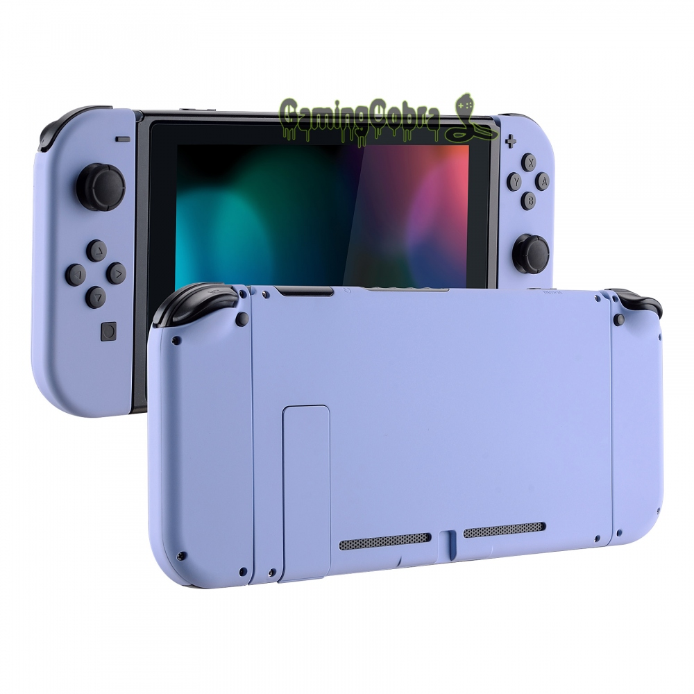 Soft Touch Light Violet Back Plate W/ Controller Housing Shell W/ Full Set Buttons for Nintendo Switch Console & Joy-Con
