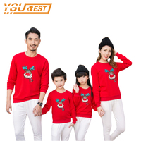 Christmas Style Family Matching Clothes Mother Father And Baby Casual T Shirt Mother Daughter And Father