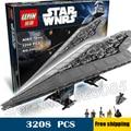 3208pcs Bela 05028 New Star Wars Super Star Destroyer Assembling Building Blocks Gifts Bricks Compatible With Lego