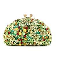 Verde Bolso de Noche para Las Mujeres de Hombro Bolsos de Diseño de Lujo de Oro de La Boda/La Cena/fiesta de Graduación Del Partido Bolsa de Embrague embrague monedero