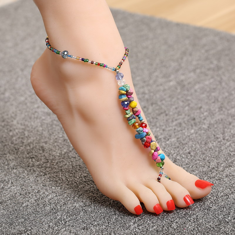 Aliexpress.com : Buy Personality Colorful Anklets Natural ...