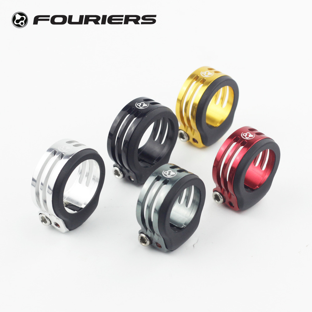 Fouriers CNC Alloy Bike Seatpost Clamp with Rubber Fixed 34.9mm Water Dust Proof