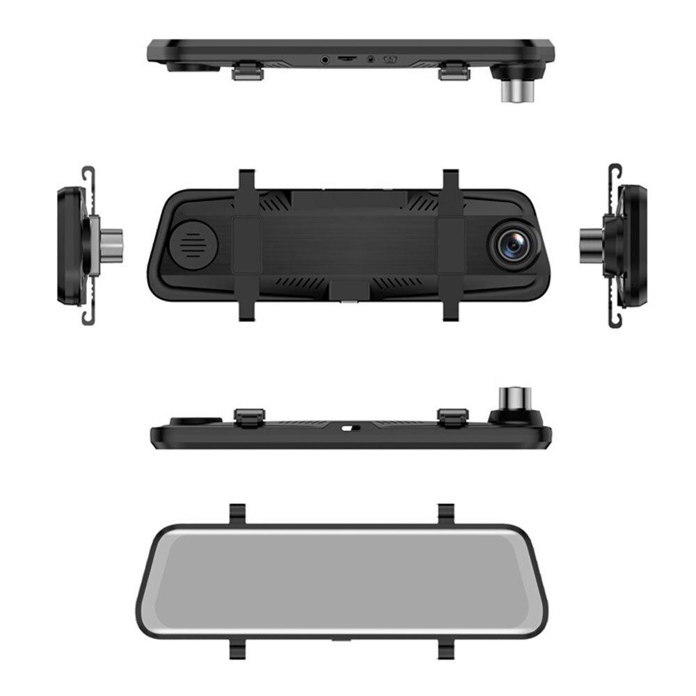 Vehemo 10 дюймов Зеркало заднего вида автомобиля видео Регистраторы вождения Регистраторы Камера Двойной объектив портативный автомобильный DVR Ночное видение тире Камера