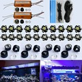 30 w 60 w 90 w 120 w 150 w diy led aquarium light kit (20*3 w) para coral tanque do recife dimmable led iluminação