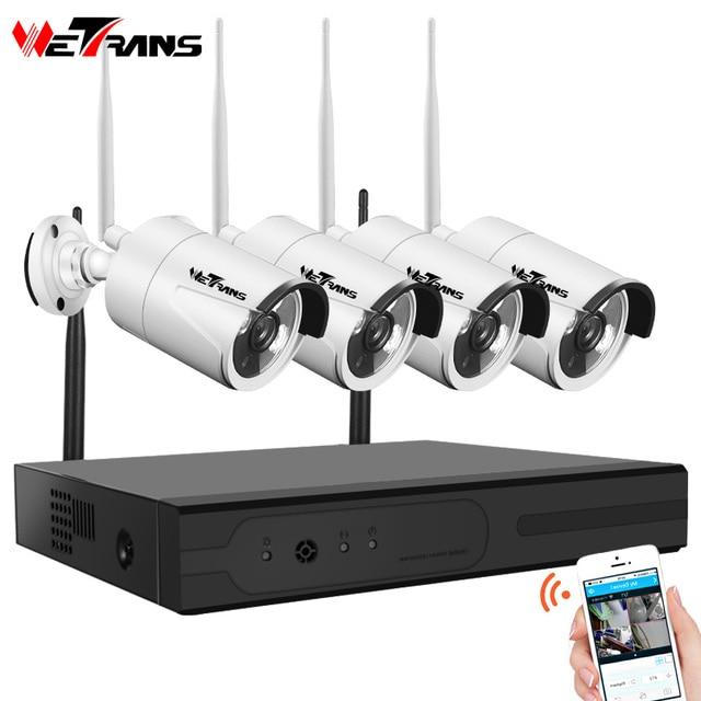 Система видеонаблюдения Wetrans, 4 канала, HD, NVR, Wi Fi
