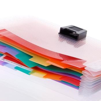 13 siatki A6 aktówka śliczny kolor tęczy Mini rachunek odbiór torba na dokumenty etui Folder organizator uchwyt na dokumenty materiały biurowe hyq tanie i dobre opinie NoEnName_Null CN (pochodzenie) Rozszerzenie portfel Z tworzywa sztucznego