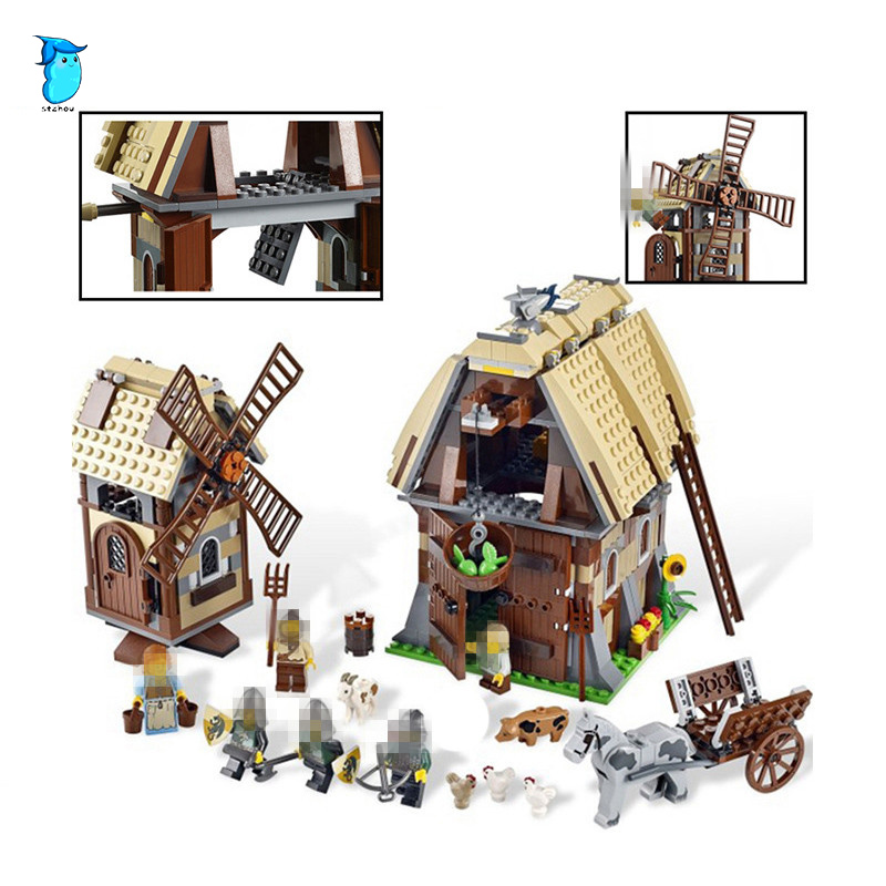 StZhou 1010pcs Lepin Castle Series the Mill Village Raid Set Creative Building Blocks Bricks Educational Toys Gift Model Lepin lepin 37001 creative series the vestas windmill turbine set children educational building blocks bricks toys model for gift 4999