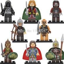 8pcs/set The Lord of the Rings Rohan King Figure Eomer Theoden Uruk-Hais Archer Building Blocks Hobbit Gift Toys