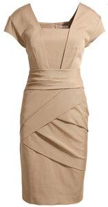 Image 1 - حجم كبير XXXL أنيقة OL الزي ضئيلة فستان كيت فستان إنجلترا النمط الأوروبي الإناث الموضة بلون