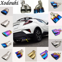 For Toyota C HR CHR 2017 2018 Car Cover Muffler Exterior End Pipe Dedicate Stainless Steel