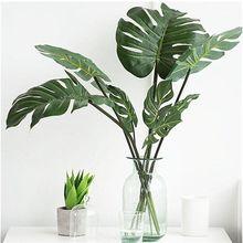 Decorações de escritório, plantas artificiais monstera tropicais de simulação alta de unidades/pacote l/m/s, decorações de escritório e festa em casa