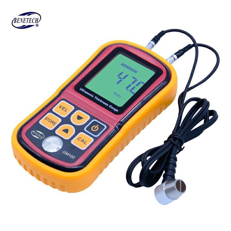 Tools : GM100 Digital LCD display Ultrasonic Thickness Gauge Metal Testering  Measuring Instruments 1 2 to 200MM Sound Velocity Meter