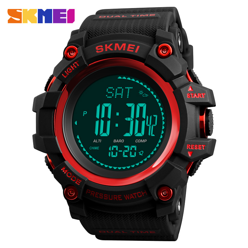 Fashion Mens Sports Watches Luxury Skmei Brand Altimeter Barometer Pressure Compass Clock Pedometer Calories Digital Wristwatch outdoor sports watches men skmei brand countdown led men s digital watch altimeter pressure compass thermometer reloj hombre