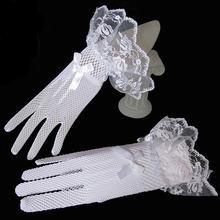 Кружевные свадебные перчатки jaevini лидер продаж 2019 белые