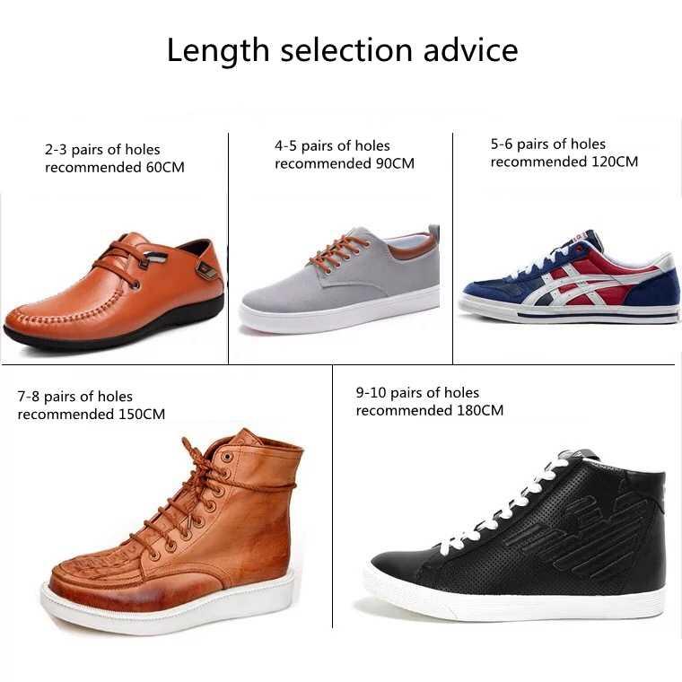 1 çift Yuvarlak Çizgili Çift Renk Ayakabı Erkekler Ve Kadınlar Unisex Dantel Deri Boot Ayakkabı Bağcıkları Için Açık spor ayakkabı Ayakkabı Bağı