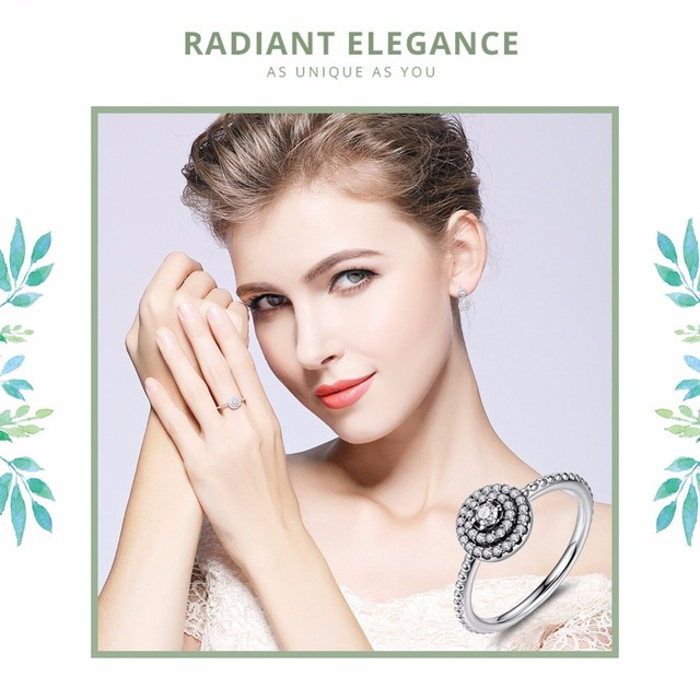 Round Shape Radiant Elegance Clear Cirkonia ring