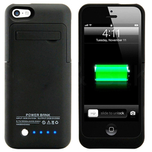 2200mAh External case charging power bank Charger pack backup battery case for iphone 5 5S 5C SE