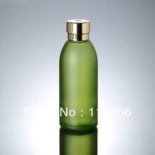 120ML green glass bottle with golden lid lotion bottle