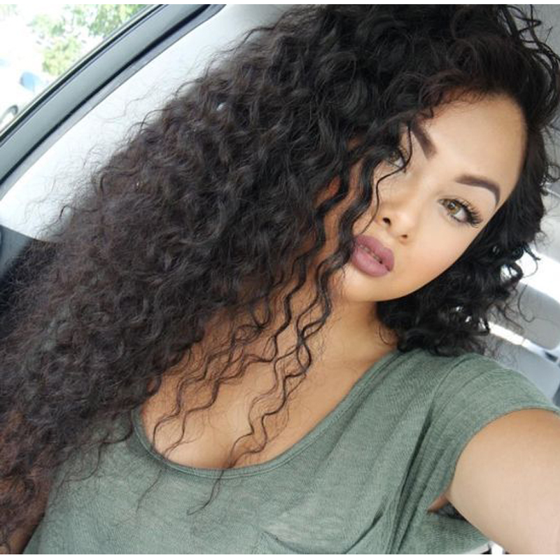 Indian Virgin Hair Wig Loose Curly Full Lace Human Hair Wigs For Black Women Lace Front