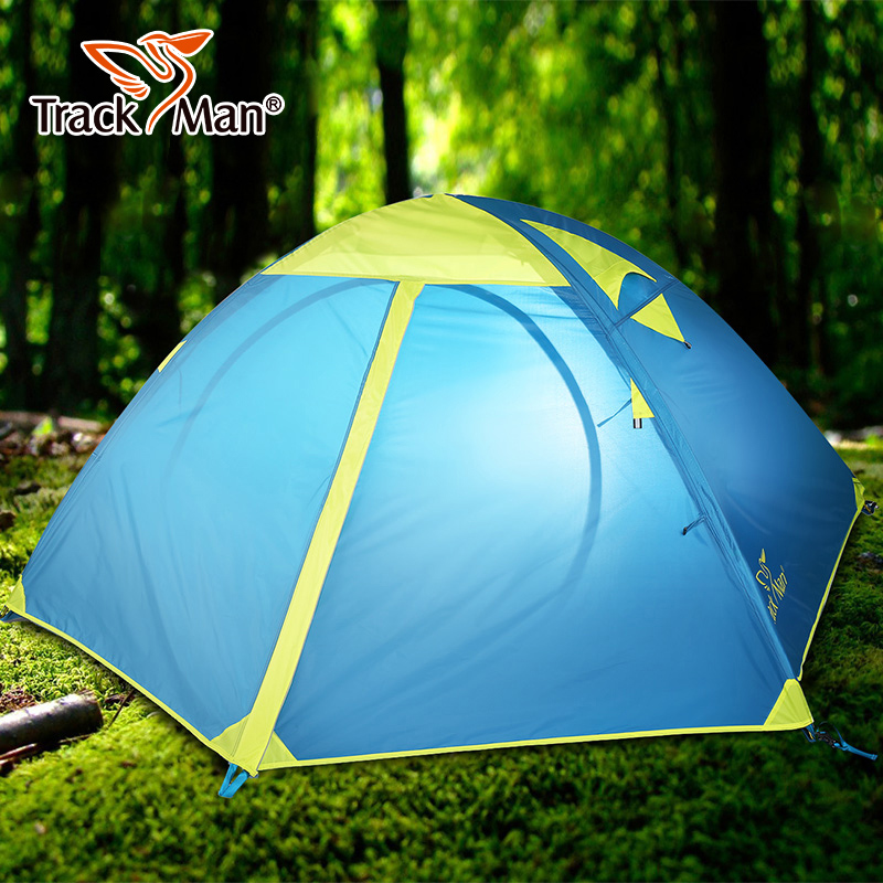 Tarckman Camping Tent 2 Person One Bedroom Double Layers 3 Season Tent Outdoor Tent - TM1218 high quality outdoor 2 person camping tent double layer aluminum rod ultralight tent with snow skirt oneroad windsnow 2 plus