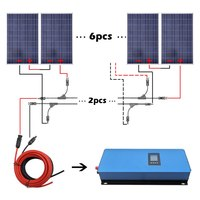 1000 Вт 12 В Крыша Комплект 10 шт. 100 Вт солнечная панель и 1 кВт инвертор зарядки домашняя солнечная энергетическая система солнечная ячейка сол