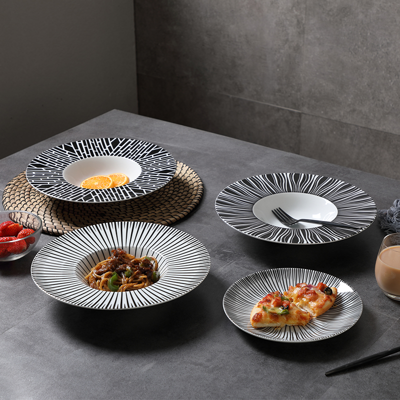 Western style fishes plates food plates Italian noodle plate hat style luxury dishes tableware-in Dishes \u0026 Plates from Home \u0026 Garden on Aliexpress.com ... & Western style fishes plates food plates Italian noodle plate hat ...
