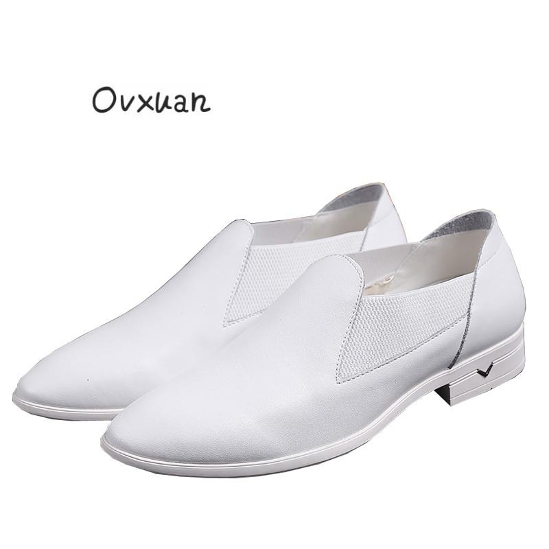 Ovxuan Genuine leather Loafers Men Slippers Italian Design Handmade Leather Shoes Moccasins Man Flats Men Casual Slip On shoes фигурка spider man титаны электронный злодей