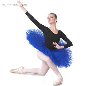 Image 4 - 전문 리허설 투투 어린이 및 성인 발레 댄스 하프 투투 스커트 7 층 뻣뻣한 얇은 명주 그물 Pancak 투투 BLL001