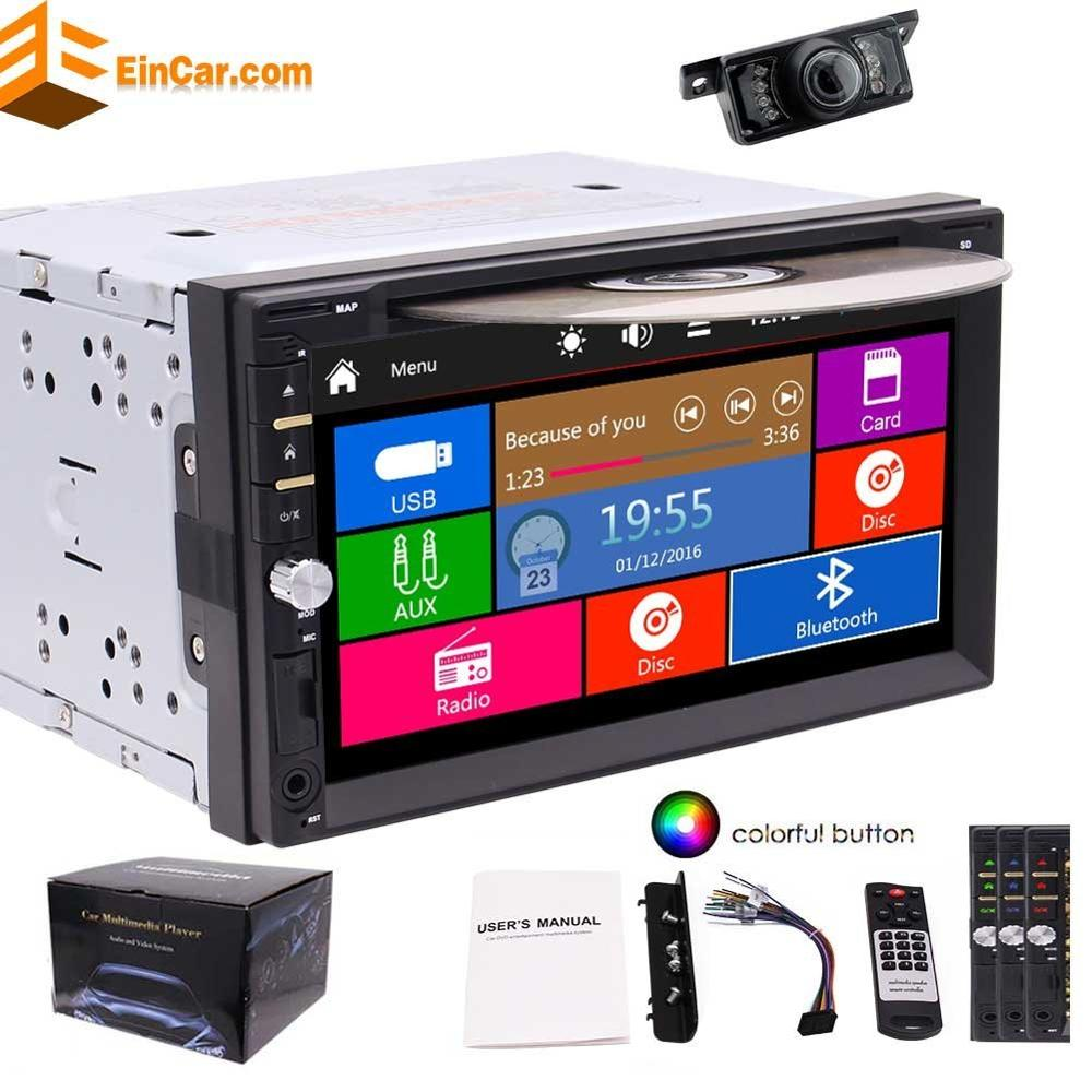 Eincar Free Rear Camera included! Autoradio 2 Din in Dash Headunit MP3 Music Stereo Auto Radio Car DVD Player Electronics Video эстет колье