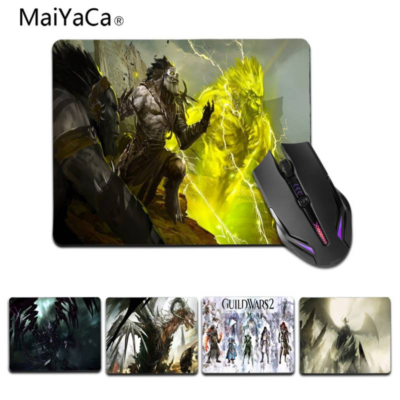 MaiYaCa In Stocked Guild Wars 2 Customized laptop Gaming small mouse pad Size for 180x220x2mm and 250x290x2mm Small Mousepad