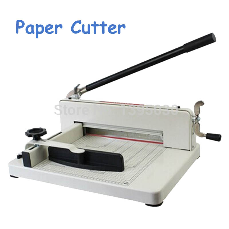 1pc New Manual Desktop Stack Paper Cutter Guillotine Cutting Machine 858-A3 visad scissors portable paper trimmer paper cutting machine manual paper cutter for a4 photo with side ruler
