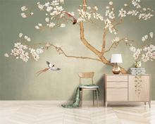 beibehang wallpaper home decoration photo background art beach flower marble living room bedroom life wall covered mural tapete