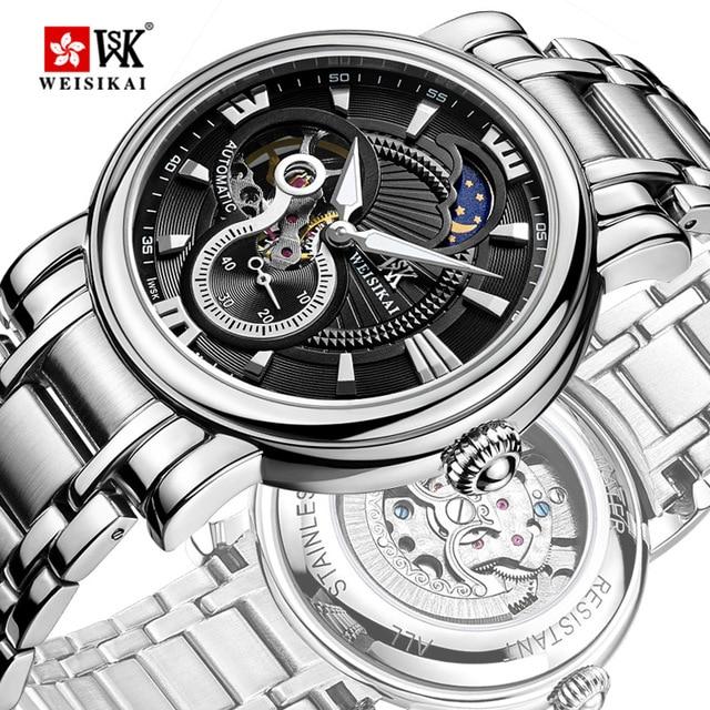 095342a85447 Reloj A Estrenar de Lujo Hombres de Negocios Casual Relojes completa de  acero inoxidable Reloj Militar Reloj de Pulsera Mecánico tourbillon Relogio  VENTA ...