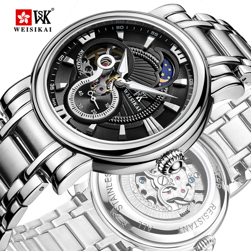 reloj Brand Luxury Men Business Casual Mechanical Watches full stainless steel Watch Military Wristwatch tourbillon Relogio SALE hollow brand luxury binger wristwatch gold stainless steel casual personality trend automatic watch men orologi hot sale watches