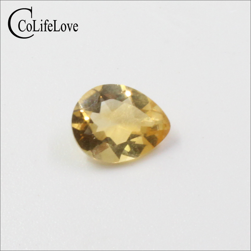 1.2 Ct Natural Citrine Loose Gemstone 7mm * 9mm Pear Cut Citrine Gemstone Whosesale Price Yellow Crystal Loose Stone