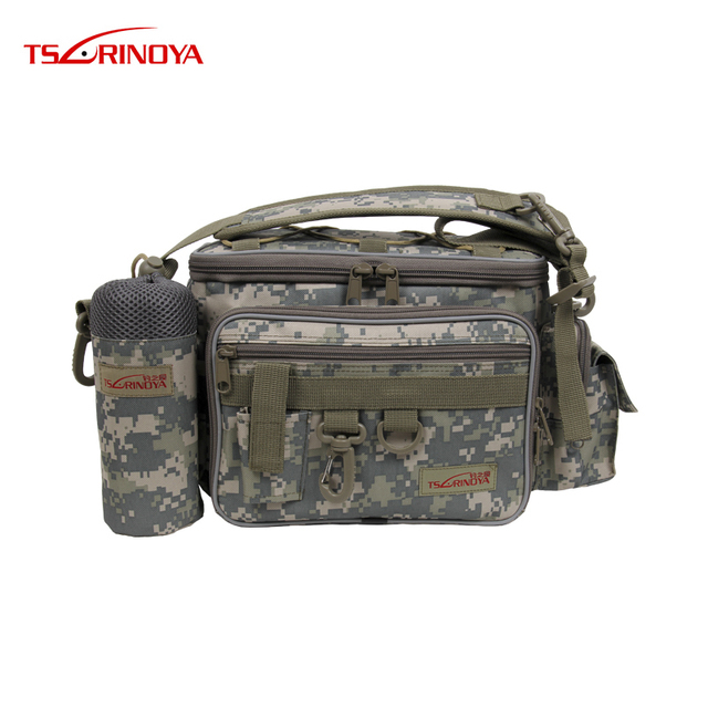 Special Offers 27*10*20cm Canvas TSURINOYA Fishing Bag Multifunctional Lure Waist Pack Fishing Tackle Outdoor Sports Bag Bolsa De Pesca Vissen
