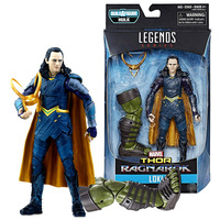 New 6'' Marvel Legends Thor Raganarok Loki with Helmet and Hulk's Right Leg Joints Doll Action Figure Collectible Model Toy