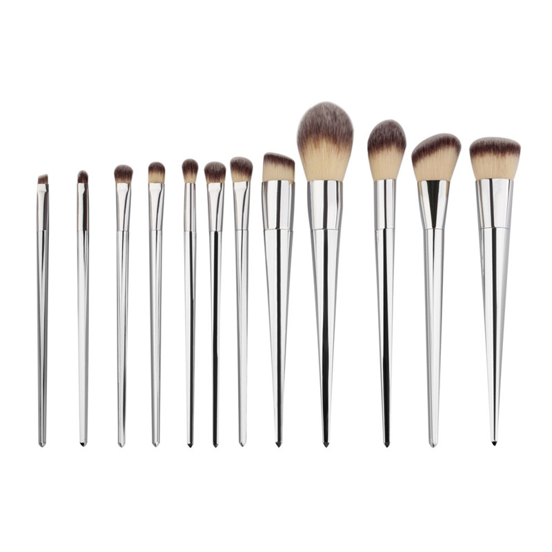 12 Pcs Professional Soft Cosmetics Beauty Make up Brushes Set Kabuki Kit Tools m