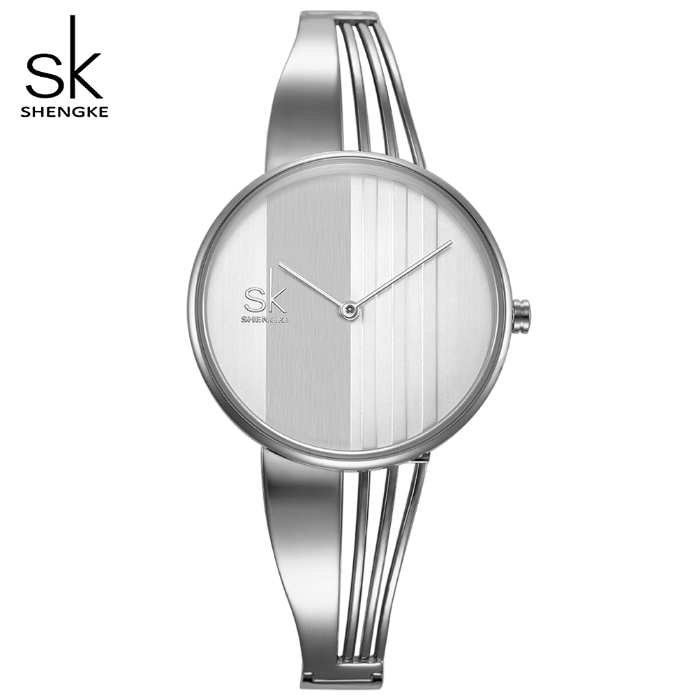 SHENGKE TOP Brand Women Watch Fashion Charm Bracelet Women Watches for Lady Jewelry Clock Quartz Women Relojes Mujer 2018 New